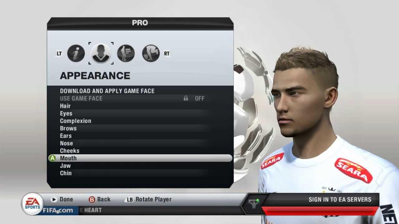 FIFA 13 How To Make Your Virtual Pro Look Like Neymar