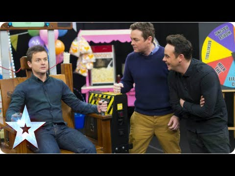 Ant vs Dec fairground shocker contest! | Britain's Got More Talent 2013