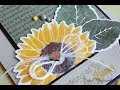 Click to watch video Sunflower Cards feat. MFT Stamps & Dies + SSS Cardstock & Inks