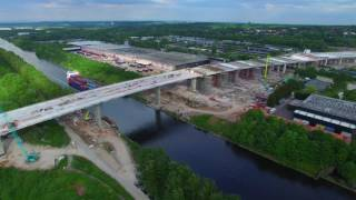 Mersey gateway project update aerial footage wigg island 22nd may 2017