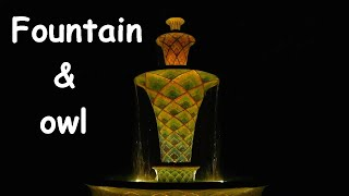 ⛲️🦉 FOUNTAIN & OWL - Relaxing night sound Help to sleep - Relax evening park Insomnia sleeping pill