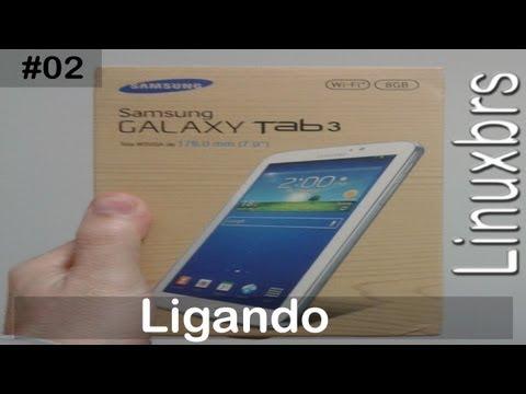 Samsung Galaxy Tab 3 - T2100 SM - T210 - Ligando e preparando para o uso - PT-BR - Brasil