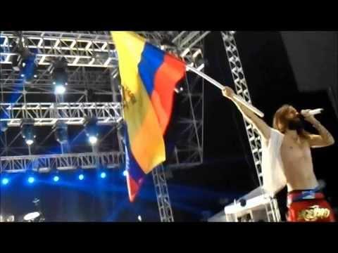 Fotos del concierto 30 Seconds To Mars en Ecuador 07/10/2014
