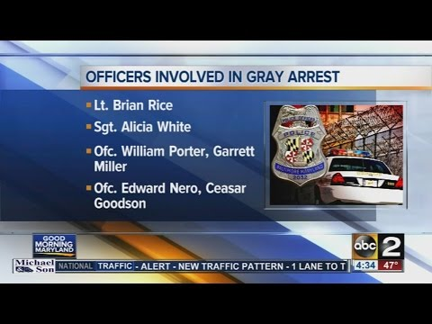 Baltimore police identify officers suspended following Freddie Gray arrest