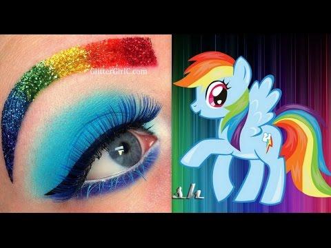 My Little Pony S Rainbow Dash Makeup Tutorial Youtube