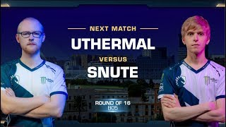uThermal vs Snute TvZ - Round of 16 - WCS Valencia 2018 - StarCraft II