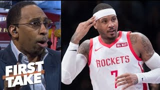 Will Carmelo Anthony be the Rockets' Achilles heel? | First Take