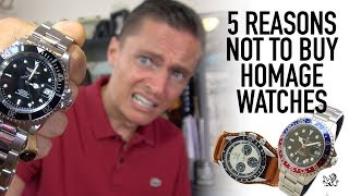 5 Reasons NOT To Buy A Homage Watch - Are Steinhart, Parnis, Invicta & Alpha A Waste Of Money?