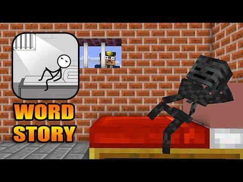 Monster School : WORD STORY CHALLENGE- Minecraft Animation