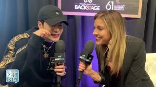 Jackson Wang Talks To Kristin Klingshirn at The GRAMMYs Radio Row