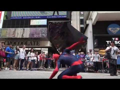 The Amazing Spiderman in Hong Kong