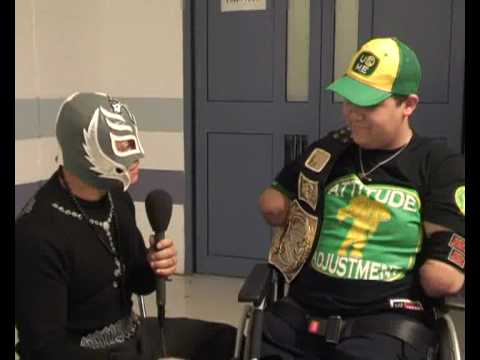 Superkid Kyle Barton chats to WWE's Rey Mysterio Video