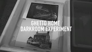 Ghetto home darkroom experiment + Using ilford film developer to print