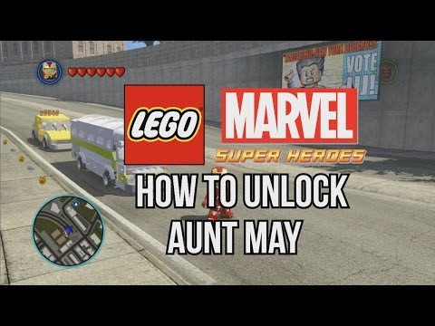 How to Unlock Aunt May - LEGO Marvel Super Heroes