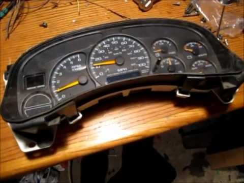 disassemble  chevrolet gauge cluster stepper