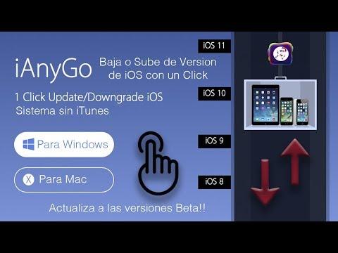 Como bajar o subir de version de iOS con un solo Click con iAnyGo