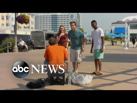 Teens Harass And Humiliate the Homeless | What Would You Do? | WWYD thumbnail