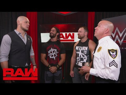 Dean Ambrose & Seth Rollins consider pressing charges against Baron Corbin: Raw, Sept. 10, 2018