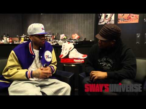 Sway Sits Down with Basketball Legend Allen Iverson at Barclay's Center during Brooklyn Nets Game