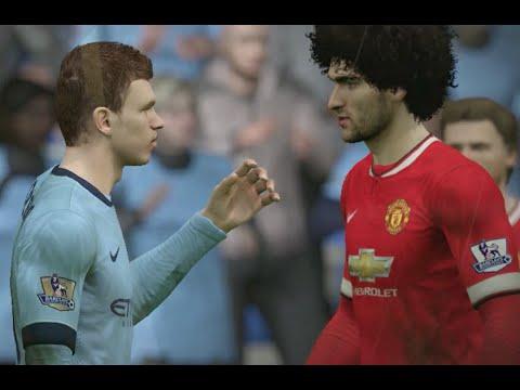 FIFA 15 (PS4): Manchester City vs Manchester United (Barclays Premier League) 1080p/60fps
