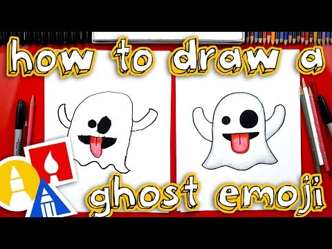 How To Draw The Ghost Emoji