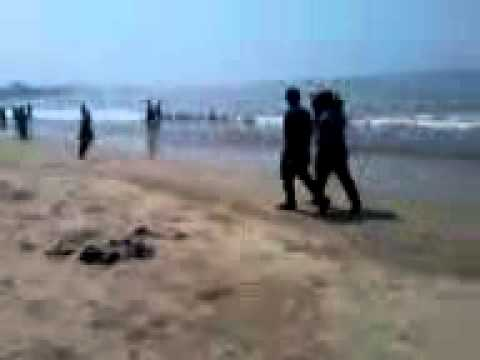 Video of waves of Arabian Sea on Juhu Beach, Mumbai in my camera