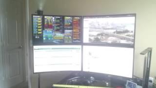 "Quad 27"" Curved Samsung Monitor (C27F398) Setup"
