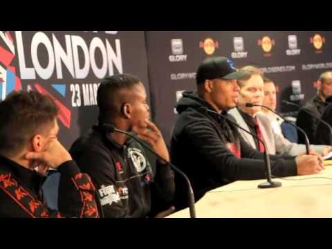TYRONE SPONG v REMY BONJASKY - FULL POST FIGHT PRESS CONFERENCE / GLORY 5 LONDON (WORLD SERIES)