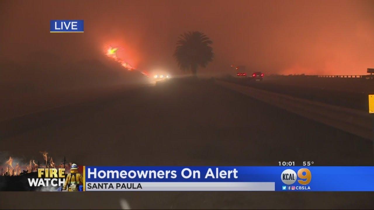 Thomas Fire Jumps 101 Freeway, Reaches Pacific Ocean