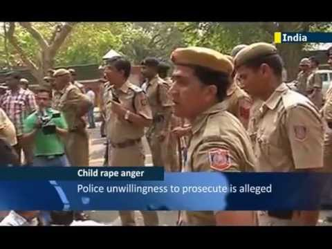 Mass protests in India over child rape case