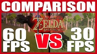 COMPARISON | Zelda: BOTW | 60 fps VS. 30 fps!!! (Nintendo Switch)
