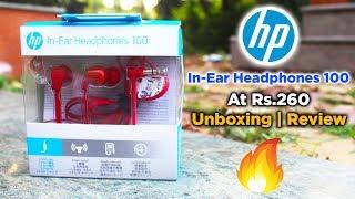 (Rs.260) HP In-Ear Headphones 100 | Unboxing | Review | Dekh Review (Hindi/Urdu)
