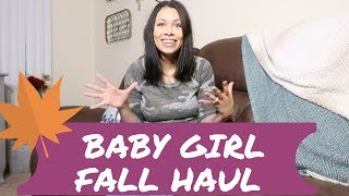BABY GIRL FALL  CLOTHING HAUL   2018    6 MONTHS