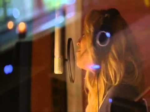 Beyonce singing I Was Here in studio