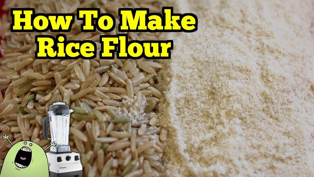 Make Gluten Free RICE FLOUR in the VitaMix - YouTube