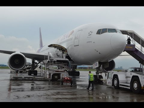 Thai Airways Kathmandu to Bangkok Royal Silk (Business) Class Boeing 777-200 TG320