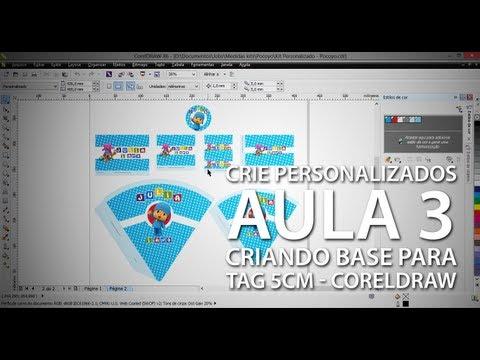 Como criar personalizados profissionalmente #3 - Criando base para tag de 5cm - CorelDRAW X6