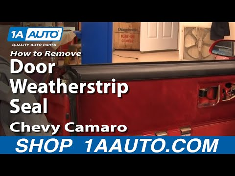 How To Remove Door Weatherstrip Seal 82-92 Chevy Camaro Iroc-Z Pontiac Trans Am
