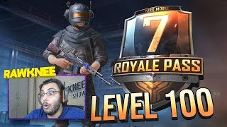 ROYAL PASS SEASON 7 LEVEL 100 | PUBG MOBILE NEW UPDATE | RP100 MAXED OUT | RAWKNEE