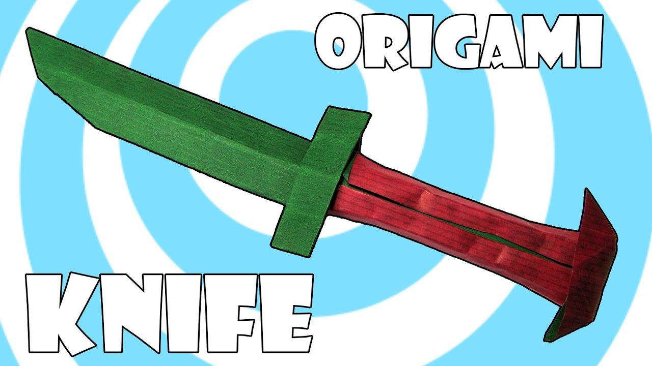 origami knife mini sword tutorial origamite youtube