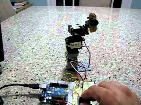 Arduino 2 Servos Thumbstick joystick: 5 Steps