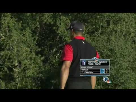 Tiger Woods Clutch Putt On 18th Chevron World Challenge (2011)