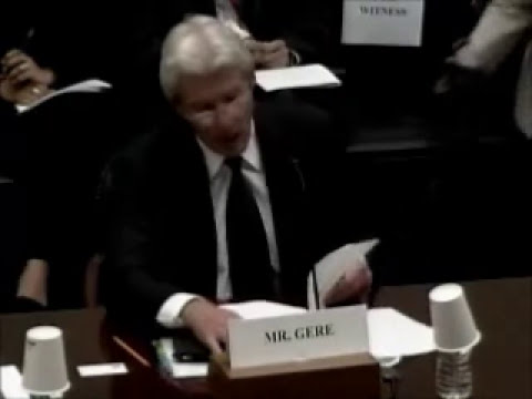 06.02.11: Richard Gere Testifies before House Foreign Affairs Committee during Human Rights Hearing