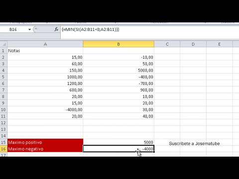 Curso de Excel: Obtener el valor maximo y minimo de un rango en Excel