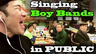 Download Lagu SINGING IN PUBLIC - Boy Bands! (BTS, ONE DIRECTION, NSYNC, BACKSTREET BOYS, B2K, NEW KIDS, and MORE) Gratis STAFABAND