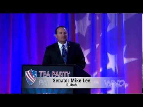 Senator Mike Lee speaks at Tea Party 5 Year Anniversary Event
