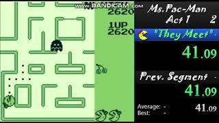 Ms. Pac-Man Act 1-Speedrun ( Gameboy-Arcade) WR