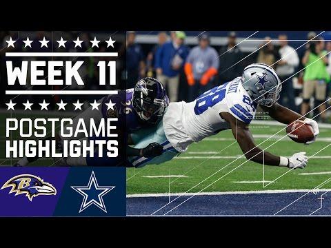 Ravens Vs Cowboys Nfl Week 11 Game Highlights