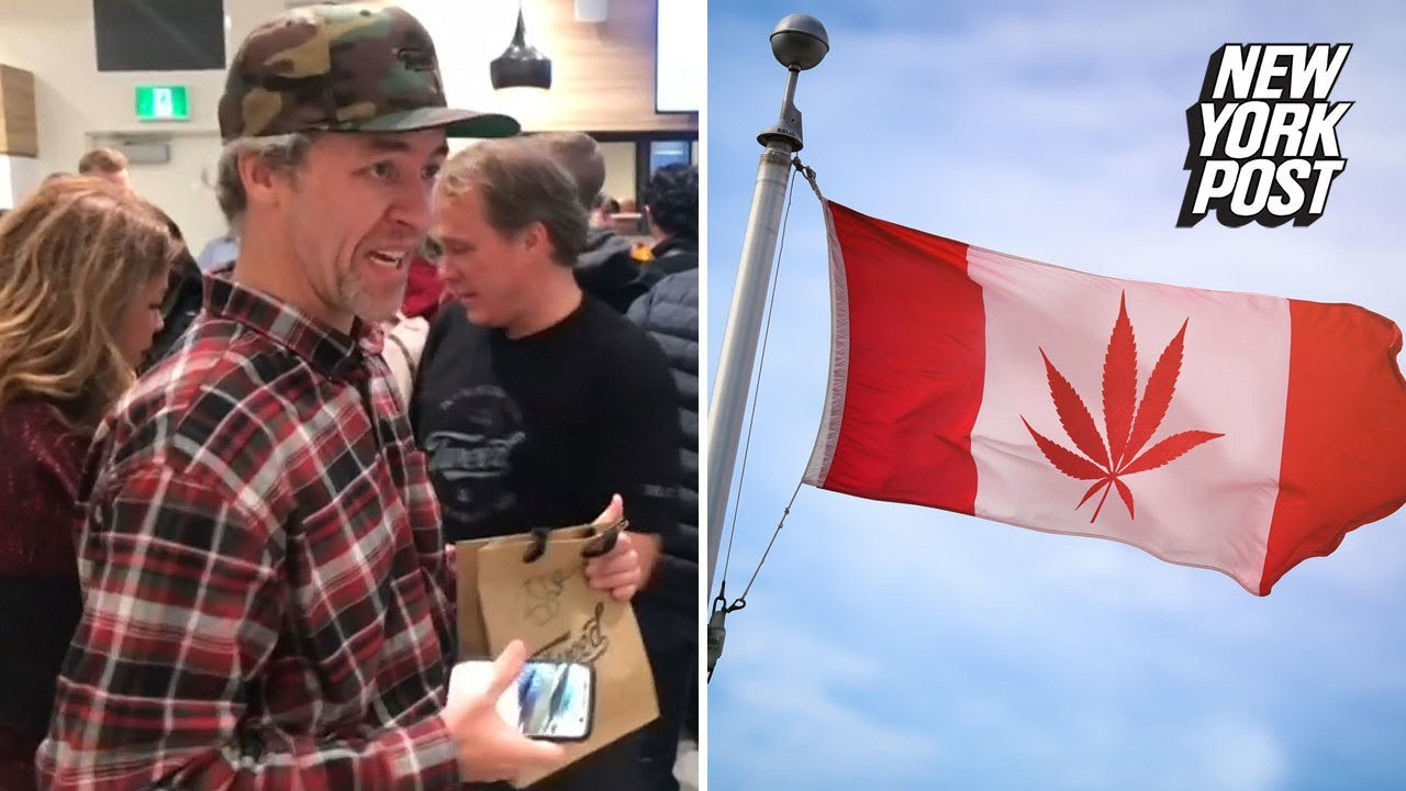 Potheads line up to buy marijuana one hour earlier than the rest of Canada