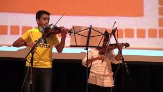 Meghai & Sohan Violin performance- Boulevard of Broken Dreams (violin), 2013